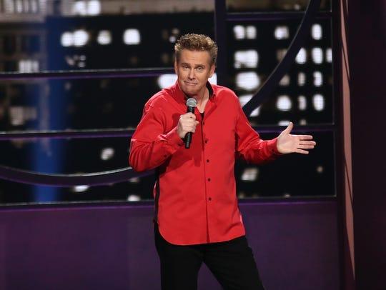 """Comedian Brian Regan performs during """"Brian Regan:"""