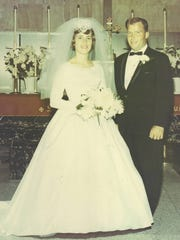 Gladys Froelich married Charles Schommer on Oct. 18, 1964, at Holy Rosary Church in Kewaunee.