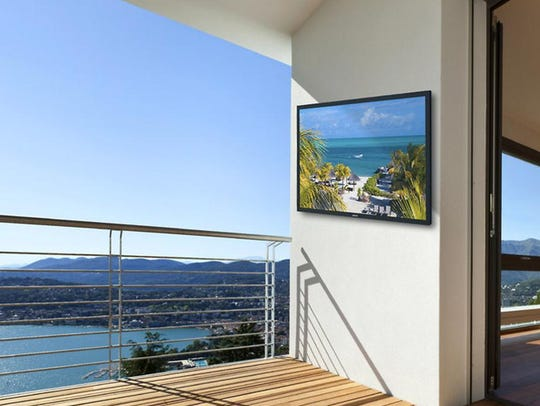 The SunBrite outdoor television.