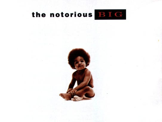 The album cover for The Notorious BIG's double platinum