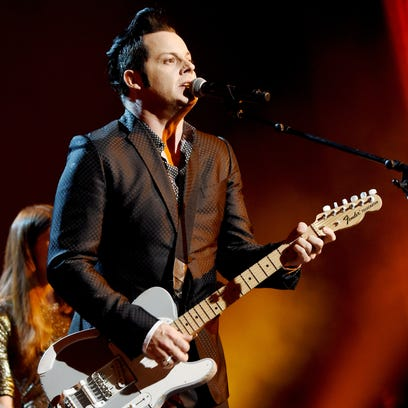 Third Man's Jack White performs at the MusiCares 2015