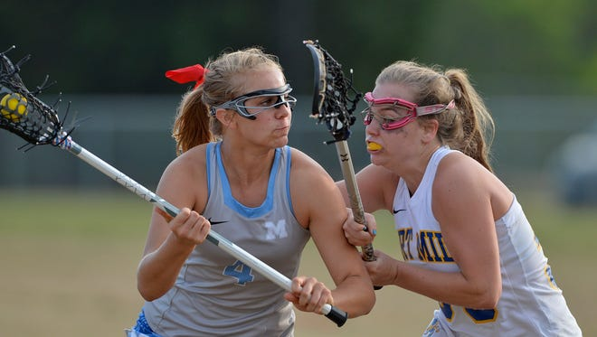 Ava Alvarez, left, was one of 11 Greenville County players on the South Carolina Lower Atlantic team that went 3-1 in the U.S. Lacrosse Women's National Tournament May 28-29 in Bethlehem, Pennsylvania.