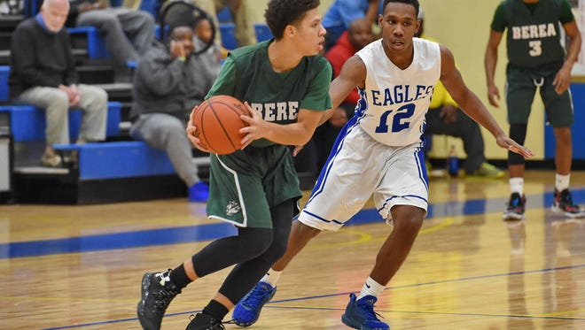 Newa Hashim, shown in an earlier game against Eastside, scored 19 points Thursday night to help Berea defeat Mid-Carolina 86-54 in the semifinals of the Lowe's Roundball Classic at Chesnee.