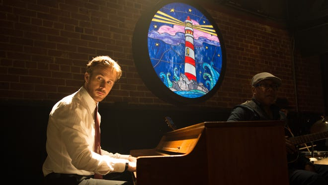 Ryan Gosling stars as jazz pianist Seb in 'La La Land.'