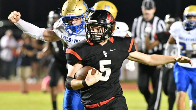 Stewarts Creek running back Loyd Rogers breaks free during Friday's win over Shelbyville.