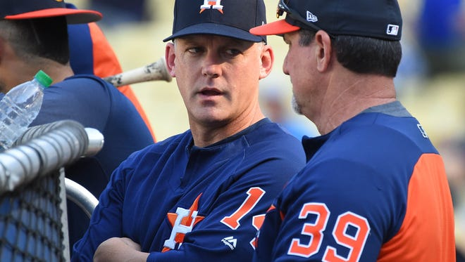 Manager A.J. Hinch has led the Astros to the World Series.
