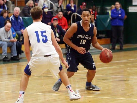 Putnam Valley defeated Haldane 56 - 31 in boys basketball