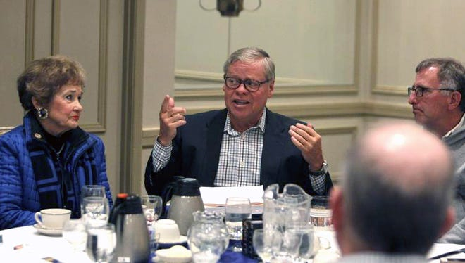 State Sen. Ron Alting told a group of local leaders Saturday, Jan. 16, 2016, the best way to gain traction on pending LGBT civil rights legislation is to table gender identity protections for now.