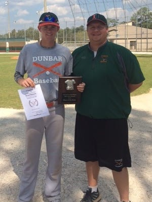 Dunbar's Brent Hansen was named offensive player of the week through March 14th by the National Scouting Report of South Florida.