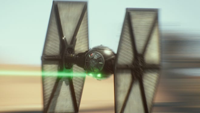 A scene from 'Star Wars: The Force Awakens'