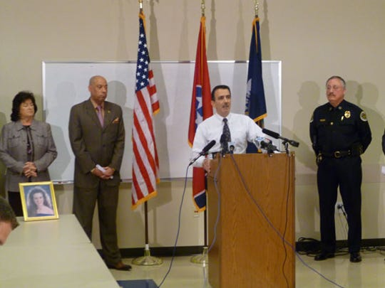 Cold Case Unit Sergeant Pat Postiglione, who led the double homicide investigation of Patrick Streater, speaks at a press conference in 2013 announcing the indictment in the case.