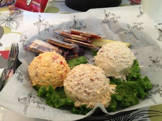 Chicken Salad Chick offers more than a dozen varieties of chicken salad.