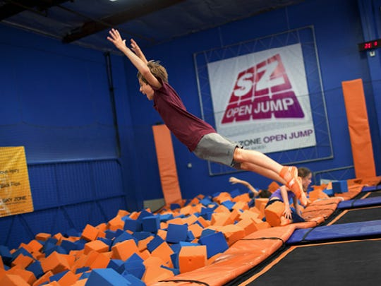 Take a leap in the Foamzone at Skyzone Trampoline Park
