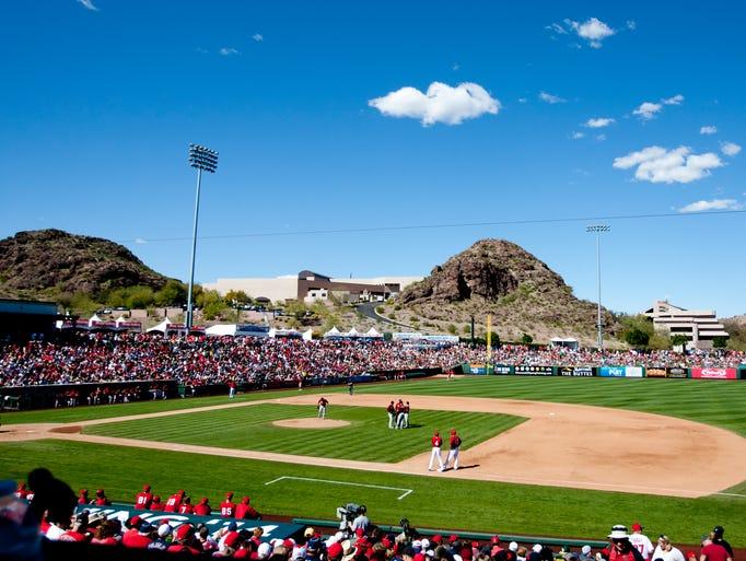 Tempe Diablo Stadium, the spring training home of the