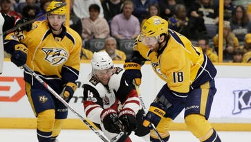 Arizona Coyotes dumped by Nashville Predators in Zbynek Michalek's return