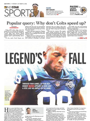 IndyStar Sports front Oct. 4.