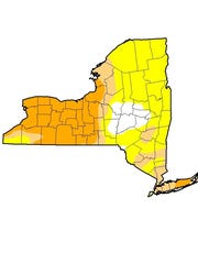 The U.S. Drought Monitor map as of Aug. 11 showed most
