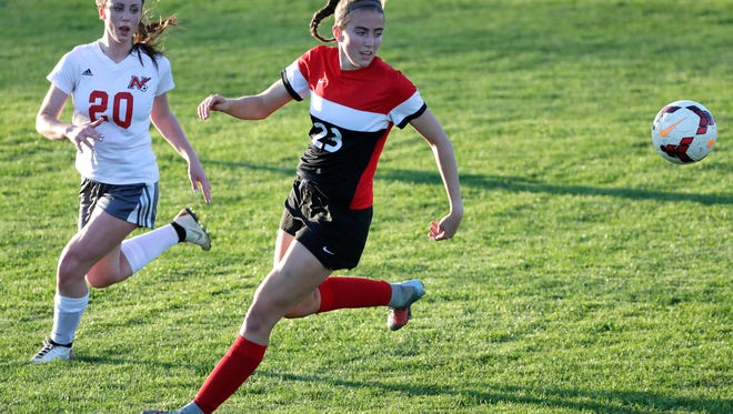 Kimberly's Elsi Twombly (23) totaled 37 goals and 19 assists this season in leading the Papermakers to the Fox Valley Association title. Dan Powers/USA TODAY NETWORK-Wisconsin