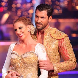 Melissa Gilbert and Maks Chmerkovskis in a 2012 episode of 'DWTS.'