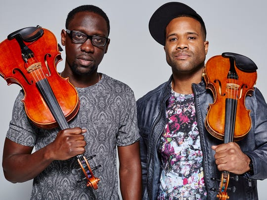 Classical-meets-hip-hop duo Black Violin returns to the Marcus Center Saturday.