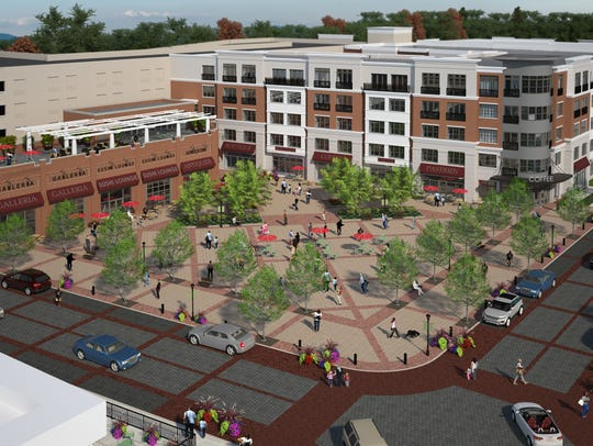 A rendition of the plaza at the Woodmont Metro at Metuchen