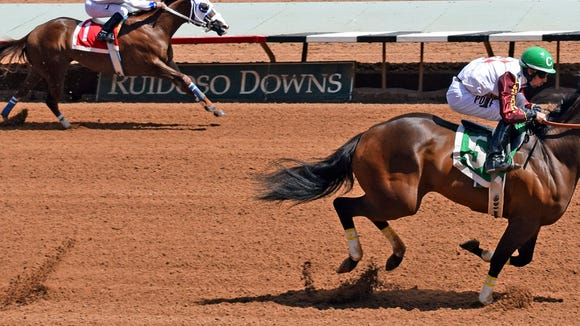 Jessies First Down runs Saturday in a graded stakes race in Ruidoso.