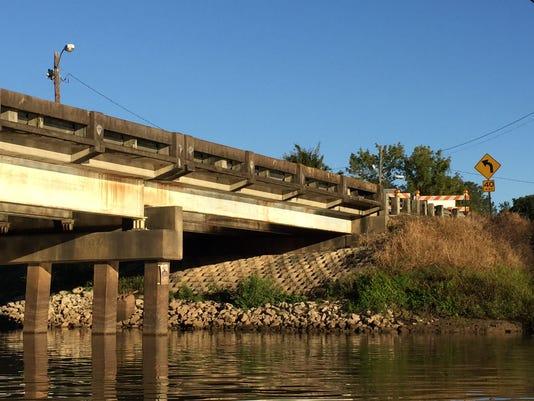 Surrey Street Bridge closed