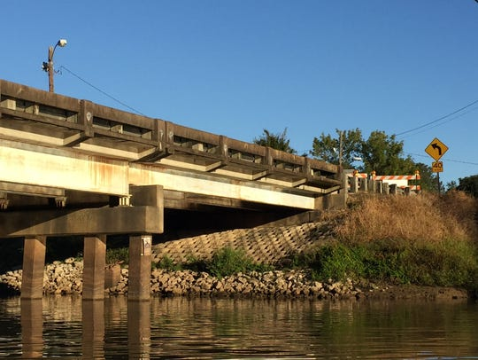 The Surrey Street Bridge in Lafayette is closed indefinitely