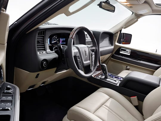 The 2015 Lincoln Navigator's interior is roomy and