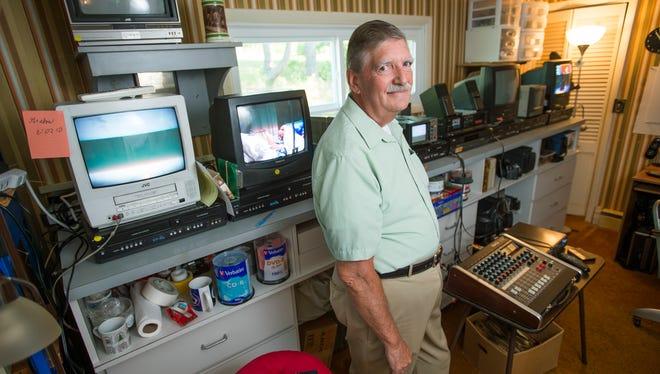 Bob Huckabone, of Huckabone Media Services, converts old videos from film to digital.