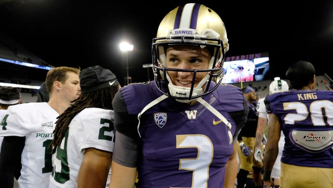 Washington quarterback Jake Browning is the FBS' No. 3 quarterback in terms of pass efficiency, but the level of competition is about to rise.