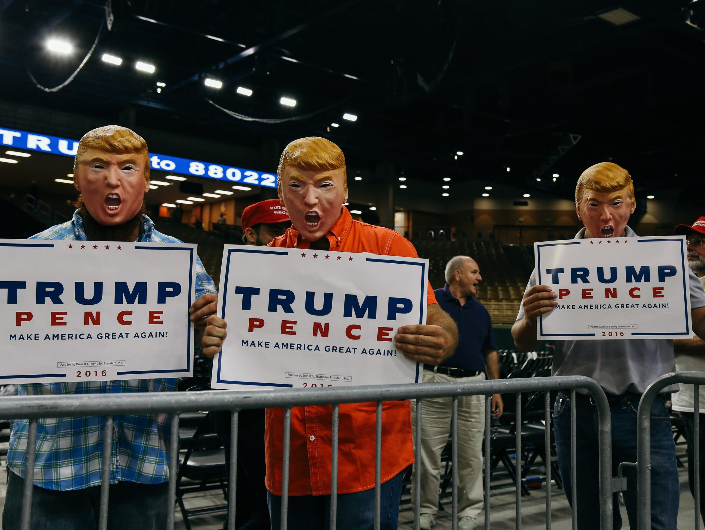 Donald Trumo held a rally at the Silver Spurs Arena