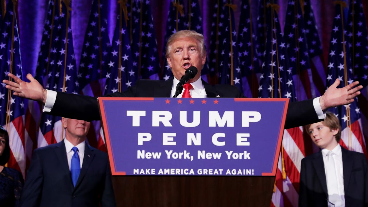 Trump's acceptance speech hints at big plans for infrastructure stimulus spending, but getting any plan through congress could be a challenge.
