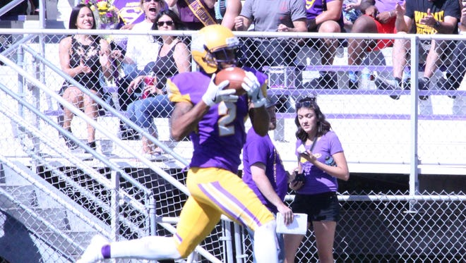 Western senior Xavier Ayers caught seven passes for 75 yards in the season finale Saturday.