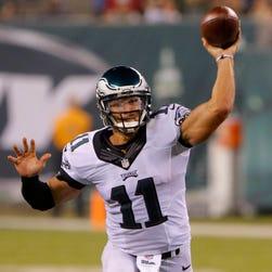 Philadelphia Eagles quarterback Tim Tebow (11) throws