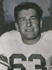 Dick Stanfel, guard, Detroit Lions.