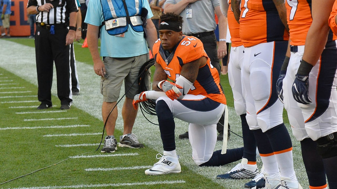 new style 993a5 ba7f1 Broncos' Brandon Marshall after kneeling: 'I'm not against ...