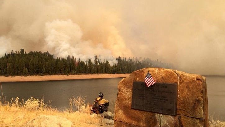 The King Fire spread northwest Wednesday, Sept. 17, 2014 evening, reaching the Stump Meadows area.