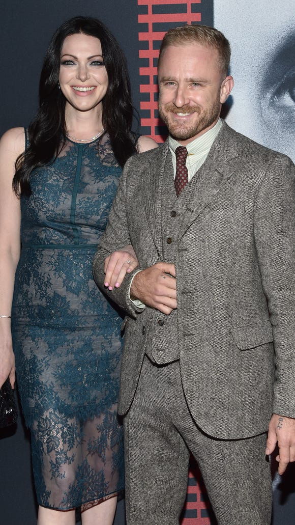 Laura Prepon and Ben Foster are a smiley pair on the