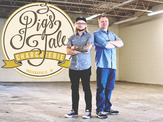 George Turkette and Troy Reed at the space that will become Pig's Tale Charcuterie. It opens this fall at 5122 East 65th St., between Binford Boulevard and Allisonville Road, across the street from Bier Brewery.