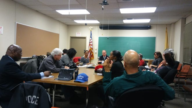 The Montclair Civil Rights Commission at its Jan. 19 meeting.