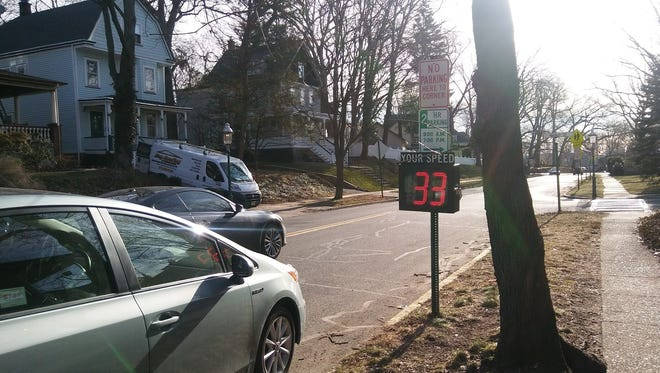 The town of Glen Ridge recently placed an electronic LED speed-limit sign near the corner of Belleville Avenue and Herman Street.