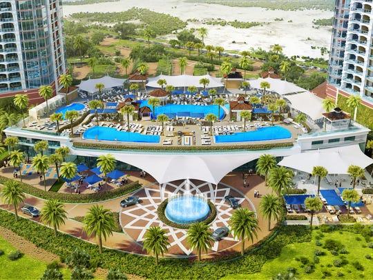Planned pool complex for Portofino Island Resort's