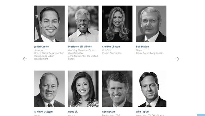 The Clinton Global Initiative's website featuring Jack Tapper, before the CNN anchor was scrubbed from the site Tuesday.