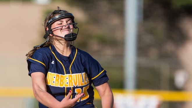 Webberville pitcher Erin Hunt repeated as a first team all-state selection in Division 3.