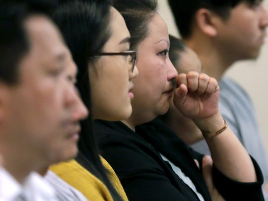 Family and friends of Ger Thao attended Wednesday's sentencing in Outagamie County Circuit Court, where Thao received 10 years in prison for a 2017 shooting at an Appleton apartment complex. Wm. Glasheen/USA TODAY NETWORK-Wisconsin
