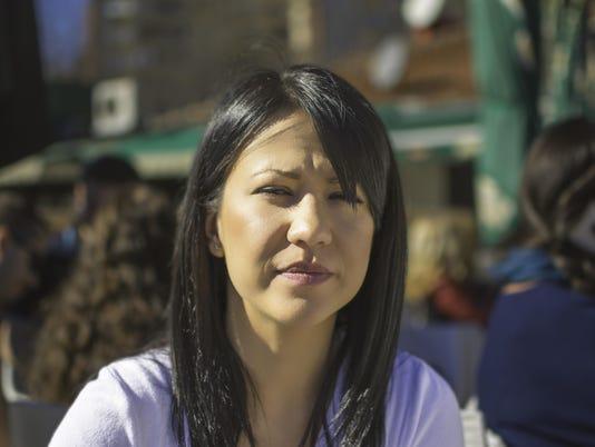 Sad beautiful woman looking at camera