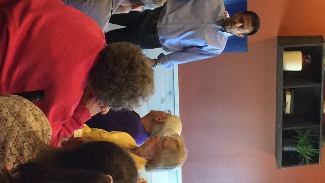 """Bobby Jindal address the term  """"anchor baby"""" at an event in Marshalltown on Tuesday, August 25."""
