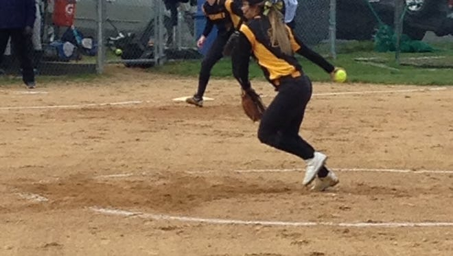 SJV's Demi Rivera pitching on Friday against Manasquan