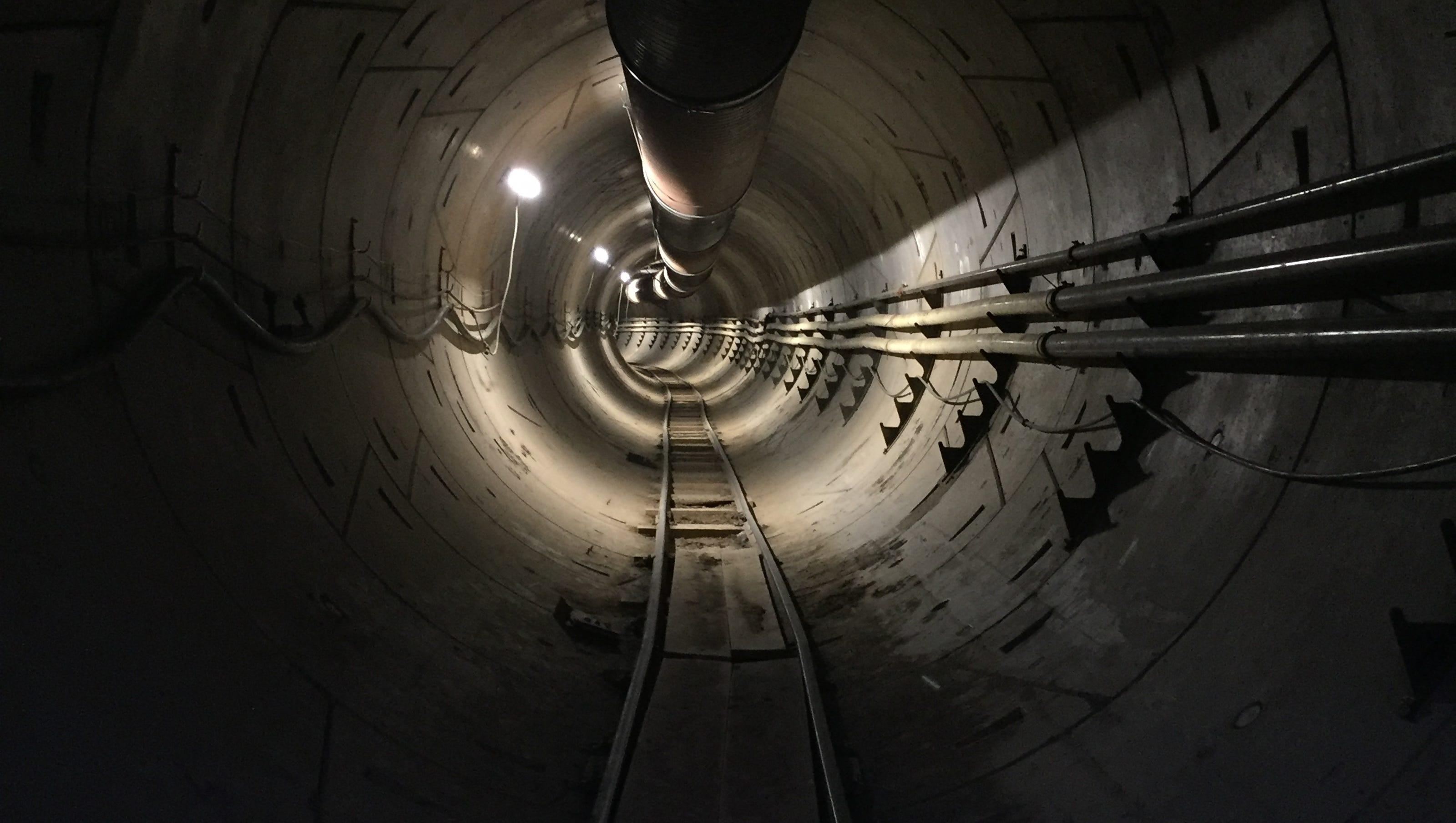 Image result for elon musk hyperloop tunnel